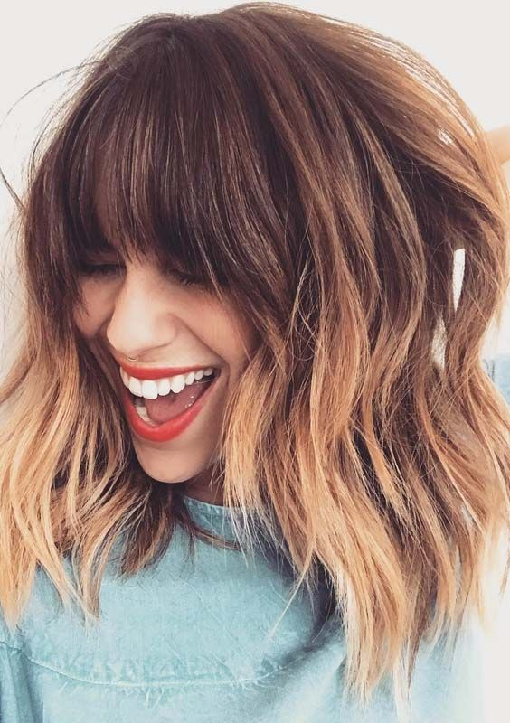 52 Pretty Ombre Haircuts With Bangs In 2018