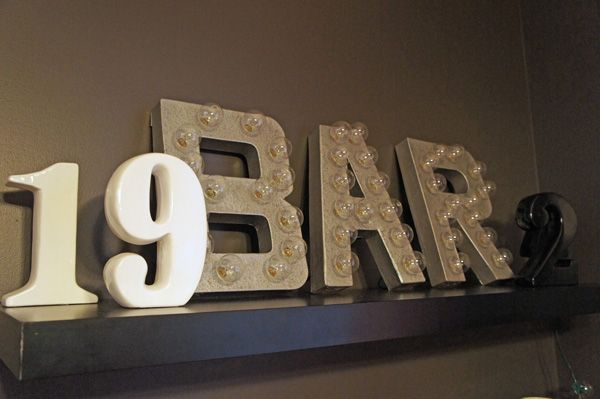 DIY Marquee Lights Diy marquee letters, Diy bar and String lights