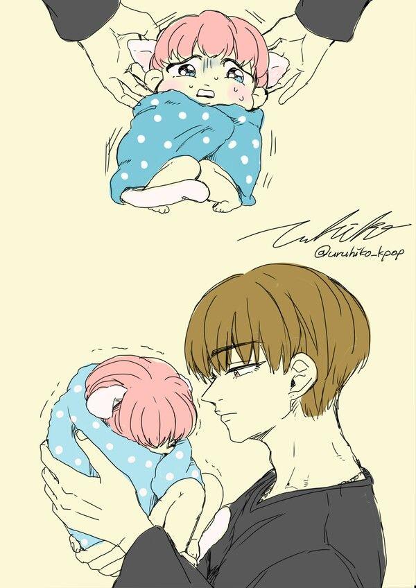 Wallpaper Anime Couple Cute Bts Fanart Vimin Bts Pinterest
