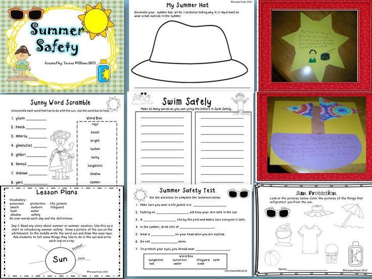 SUMMER SAFETY - TeachersPayTeachers.com