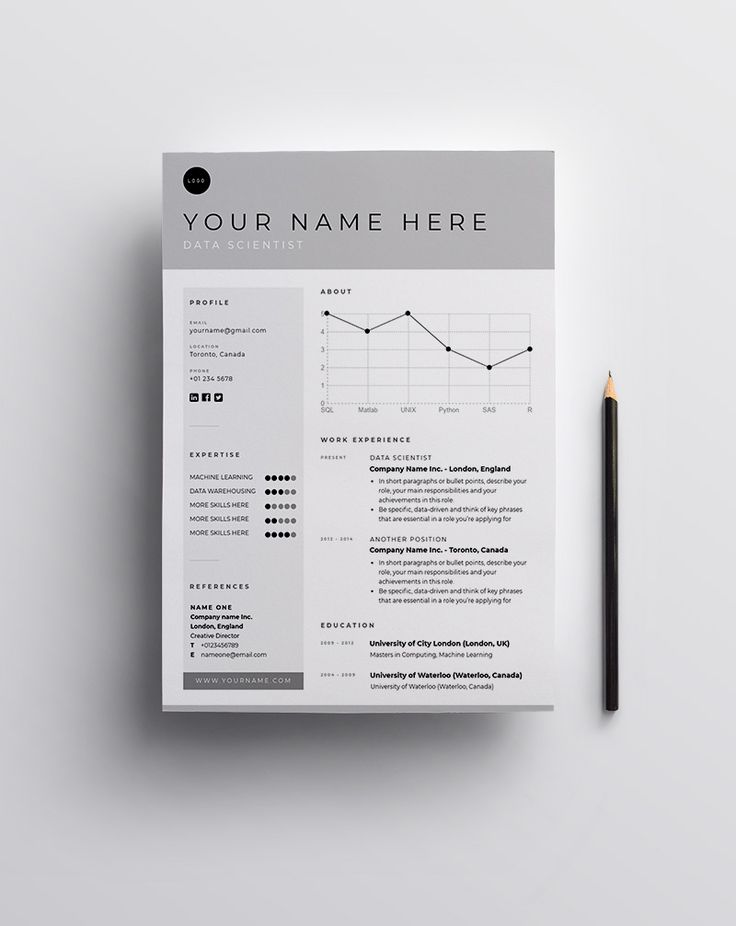 Resume Template Data Scientist Use This Template Pro Creative Resume Cv Template Resume