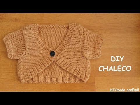 Cómo tejer chaleco de niña a dos agujas, paso a paso - YouTube