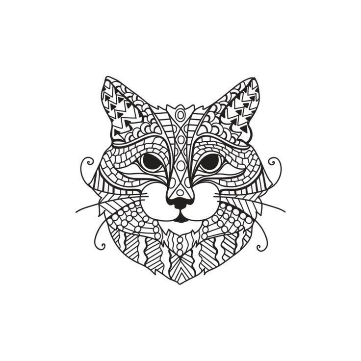 zentangle katten kleurplaten animal