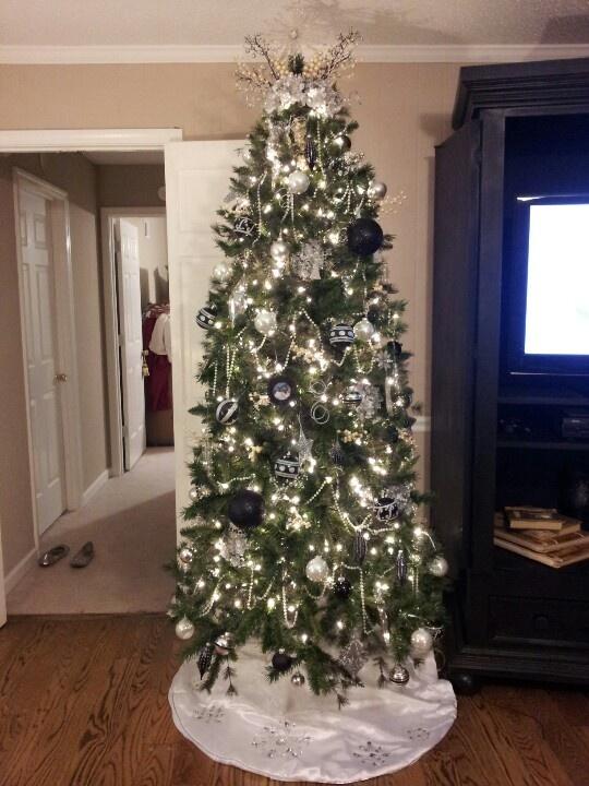 Silver And Black Christmas Tree