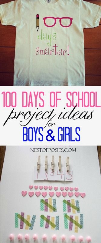 100 Days of School Project Ideas and shirt for boys & girls