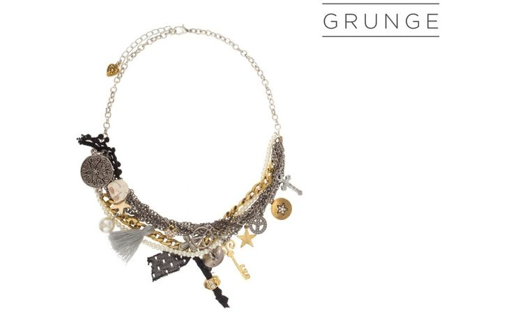Gold Grunge Necklace!  PARFOIS | Handbags and accessories online