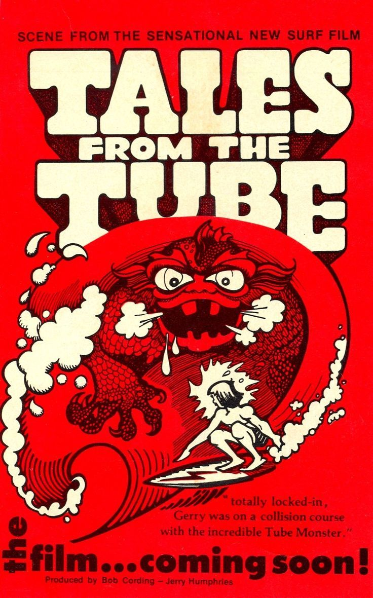 VINTAGE SURF MOVIE AD FROM SURFER MAGAZINE-ORIGINAL-1973-TALES FROM THE TUBE. $19.00, via Etsy.