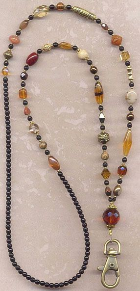 Boho Browns Badge Lanyard - http://pinterest.com/source/womanrare.com/