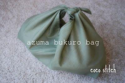 "coco stitch: simple ""azuma bukuro bag"" tutorial"