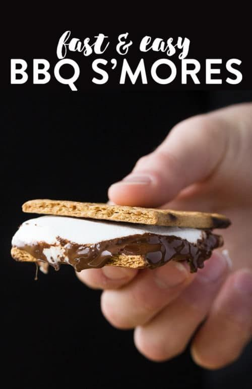 Grilled Smores - fire up the BBQ and get ready for some BBQ S'mores. A summer dessert recipe that's quick and easy to make and super yummy to eat.