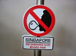Singapore is the cleanest country in the world. There is a ban on importing chewing gum into Singapore which is strictly enforced. However, the government refuses to completely lift the ban for the risk of gum littering again.