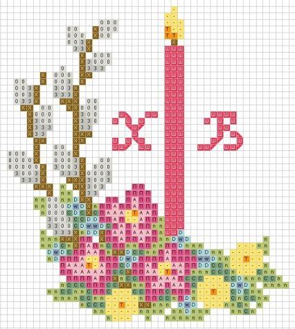Вышивка крестом на пасху схемы картинки