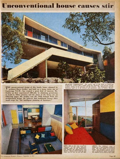 1950 Meller Residence | Architect: Harry Seidler | Castlecrag, New South Wales, Sydney