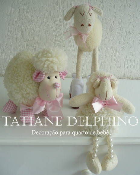 Trio de Ovelhas Menina