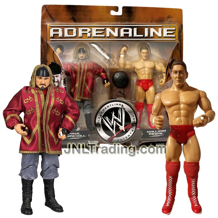 Jakks Pacific Year 2006 World Wrestling Entertainment WWE Adrenaline 2 Pack 7 Inch Tall Figure - PAUL BURCHILL & WILLIAM REGAL with Sword & Ring Bell