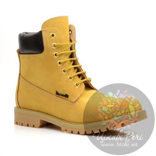 Мужские кожаные жёлтые туфли