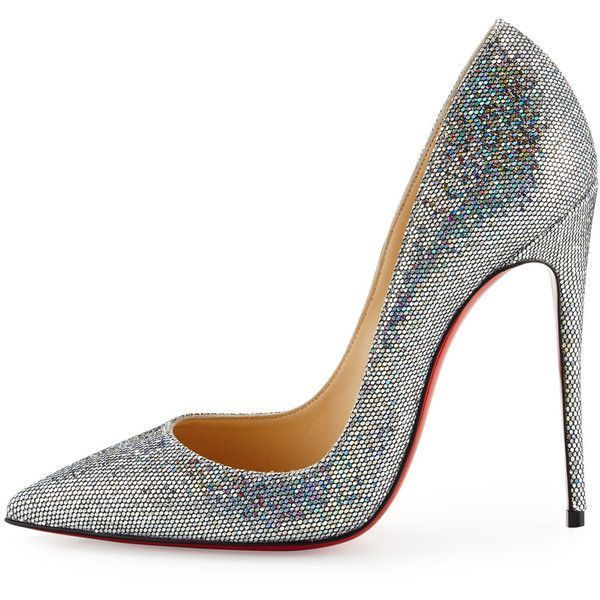 87f044ee27e Christian Louboutin So Kate 120mm Glitter Red Sole Pump (1