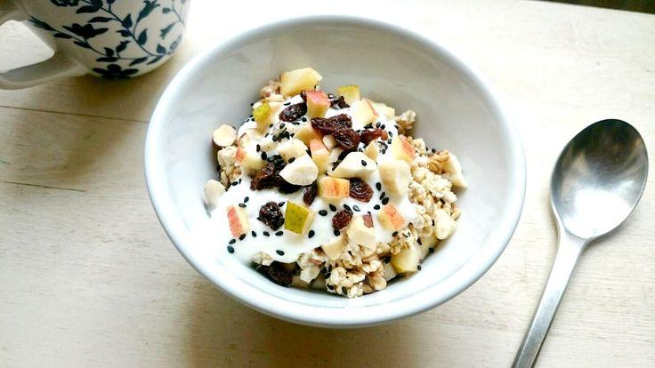 Grundrezept für Müsli mit frischen Früchten und Nüssen | treatandfeed