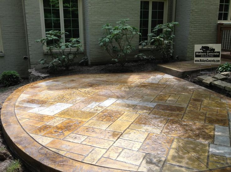 Stamped Concrete Patio Designs Cost | Walkers Concrete LLC   Stamped  Concrete Patio Stamped Concrete