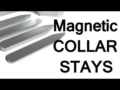 Magnetic Shirt Collar Stays | How To Keep Dress Shirt Collars In Place | Magnet Collarstays