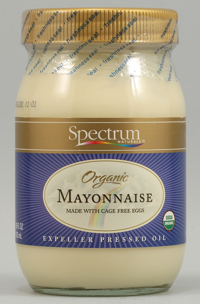 Spectrum | Mayonnaise, Spreads and Other Creamy Delights -- organic, gluten free mayonnaise; spoke to a person at the company via the phone and they told me their organic products are gmo free