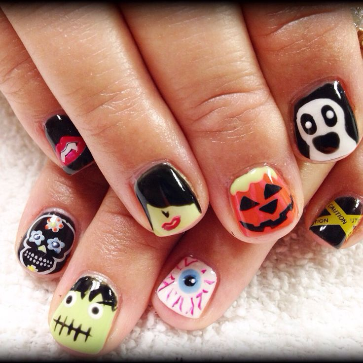 17 Best Images About Halloween Nail Art On Pinterest