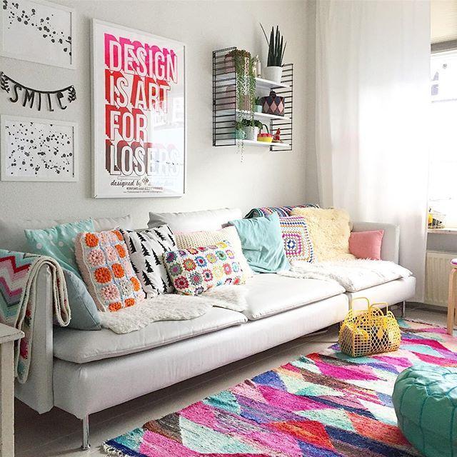 Crochet is back! // L'uncinetto è tornato! Ho messo in pratica una delle risoluzioni del programma #idahygge per rendere più confortevole la zona living durante l'inverno. Voi avete già iniziato? ⭐️