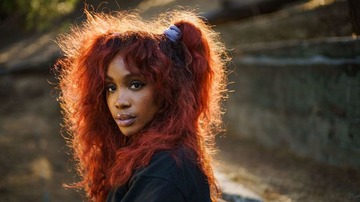 Image result for sza nose job new hair red copper hair