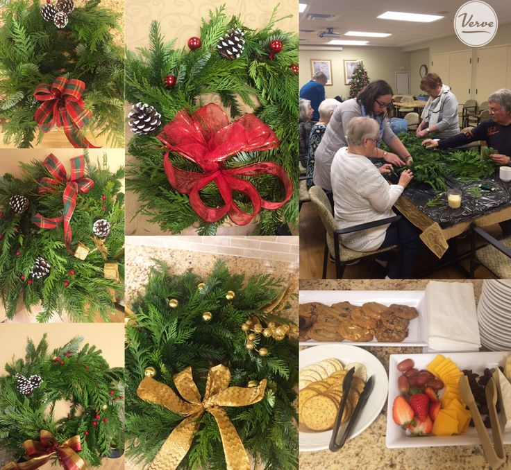 Stouffville Creek Residents and Community Members came together for a Holiday Wreath Workshop - tis the season! 🎅 #holidayseason