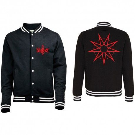 Geaca Varsity Slipknot: Logo & 9 Point Star