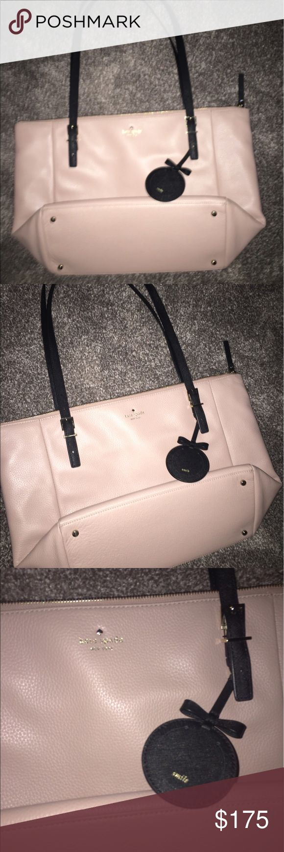 Kate spade pink bag 👜 Make offers 👜 previously used but taken good care of, no imperfections, and has no scratches or marks. Zipper works perfectly and glides nice and smooth.  Fits a lot and is a very functional purse. leather and soft to touch, the purse is pink all around with no added pattern. The purse is soft and the straps are comfortable. the bag features a zipper to enclose all your objects of choice.Comes with a free included dust bag. kate spade Bags Shoulder Bags