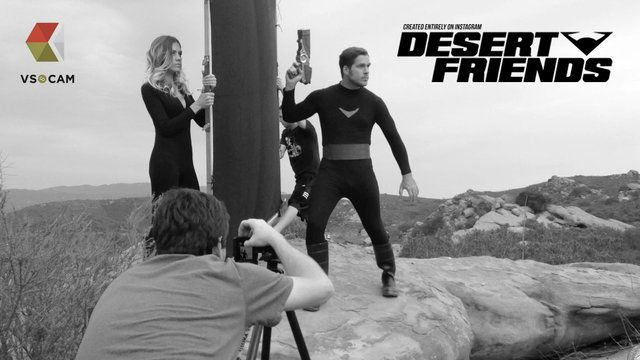 Desert Friends - iPhone photo shoot. Behind the Scenes of the Desert Friends promo shoot.  Desert Friends is the World's First Instagram TV Show - A SciFi Adventure!  Come follow us! - http://instagram.com/desertfriends  Full poster can be seen here - http://desertfriends.tumblr.com  All images were shot with an iPhone 5 using the VSCO Cam app. Photographed and composited in Photoshop by Dave Hill.