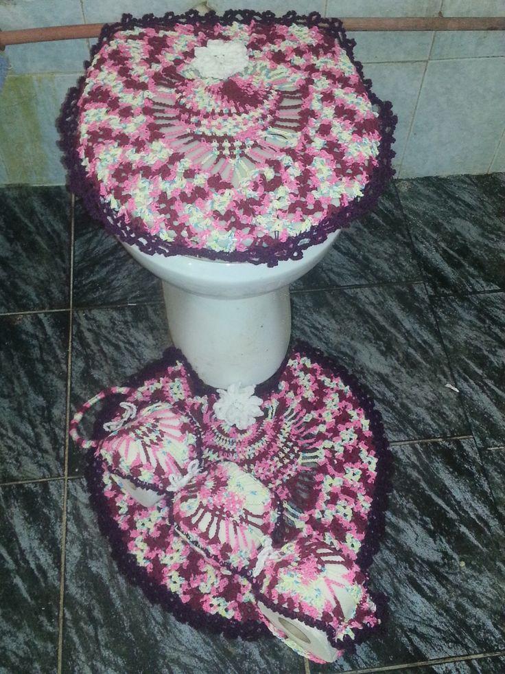 Juego De Baño Navideno A Crochet:juego de baño