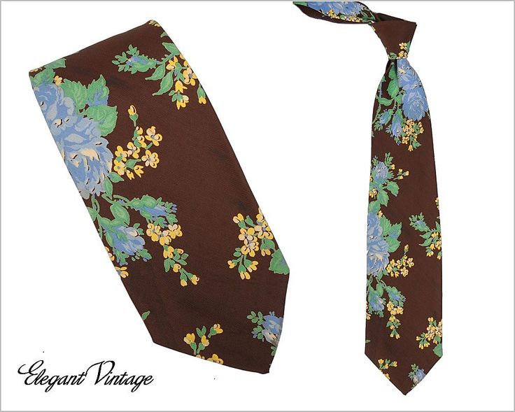 Floral Mens 1940s Necktie * 3-1/2 *Cardinal, 5th Ave NY