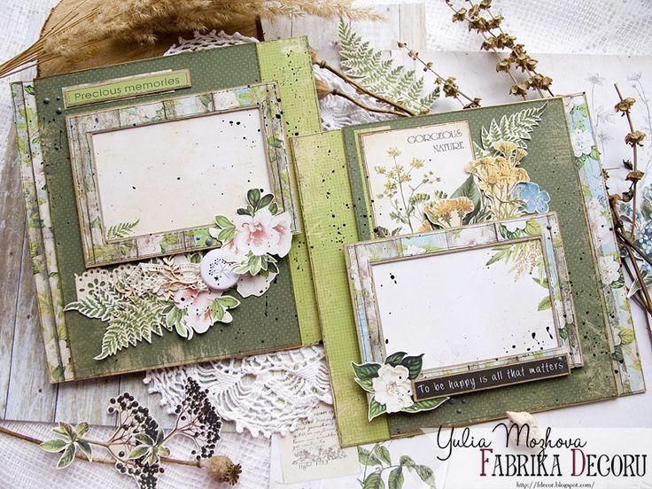 новинки, бумага для скрапбукинга, Botany summer, бумага Фабрика декору, ТМ Фабрика Декору, альбом, заготовка для альбома,