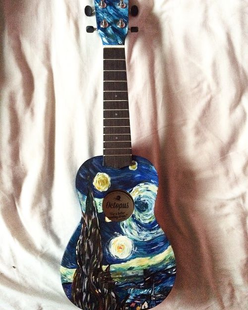Imagem de acrylic paint, ukulele, and aesthetic