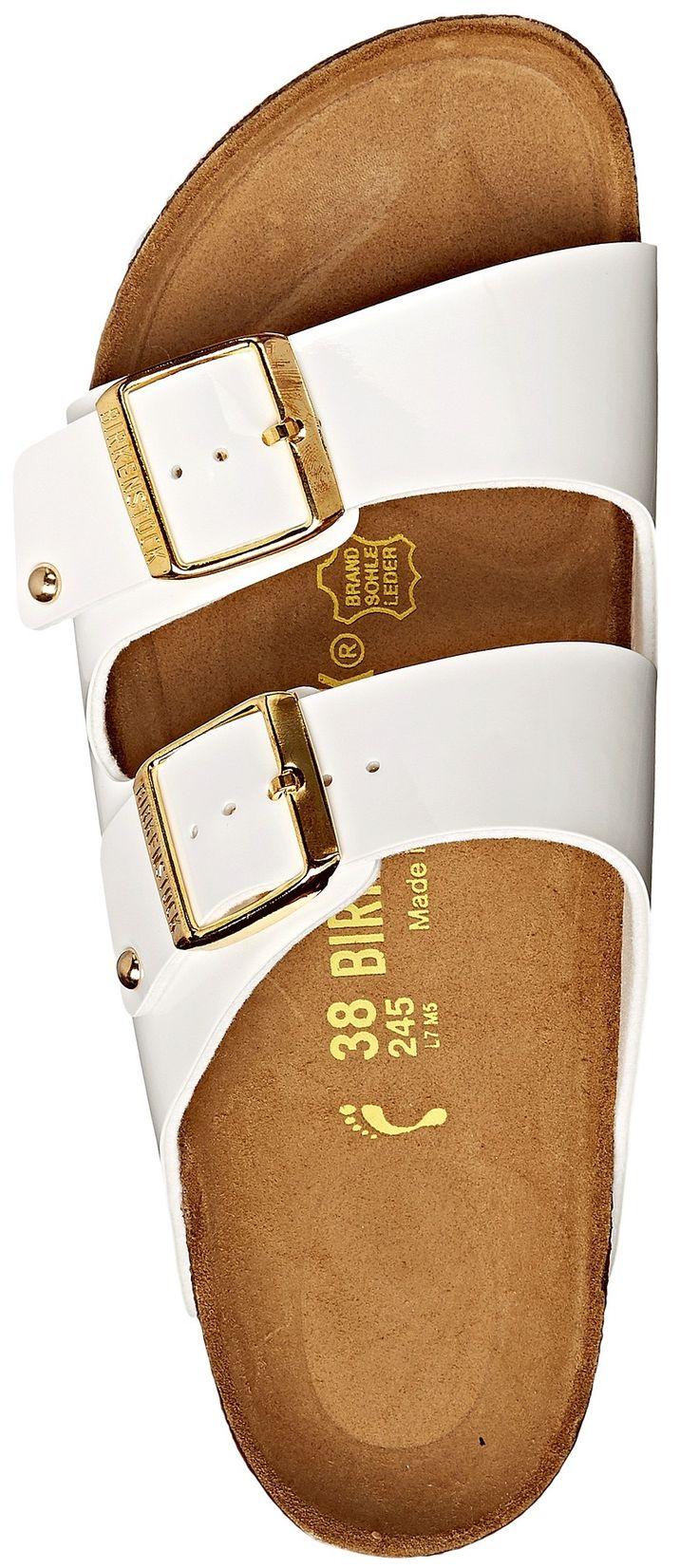 White & Gold Birkenstocks