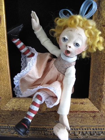 Jack And Jill Shadowbox by Lucia Friedericy, Friedericy Dolls