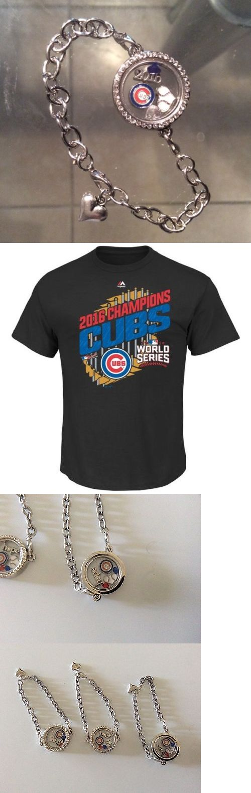 Other Baseball Clothing and Accs 159062: Chicago Cubs 8 Charm Bracelet And Brand New Cubs 2016 World Champions T Shirt -> BUY IT NOW ONLY: $34.99 on eBay!