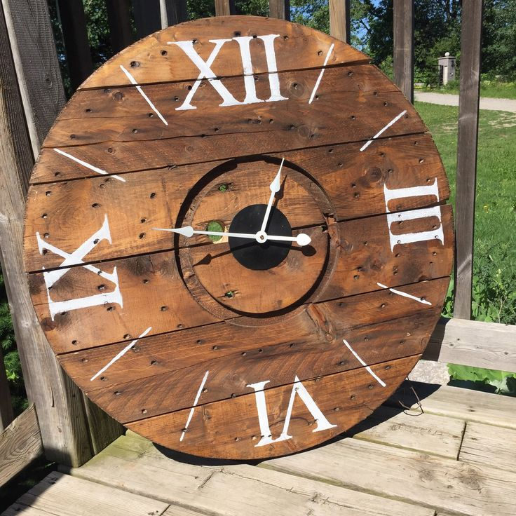 """Classic Numbers "" is one of the many beautiful rustic clocks we offer at our online boutique.  www.anchored4.com We ship world wide!!!  Sign up for our free Anchor Rewards Program to earn anchor points to get money off purchases or cash in anchor points to get items in our store FREE!!!"