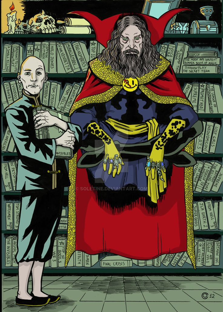 Dr. Alan Strange Moore and Grant Morrison by soletine