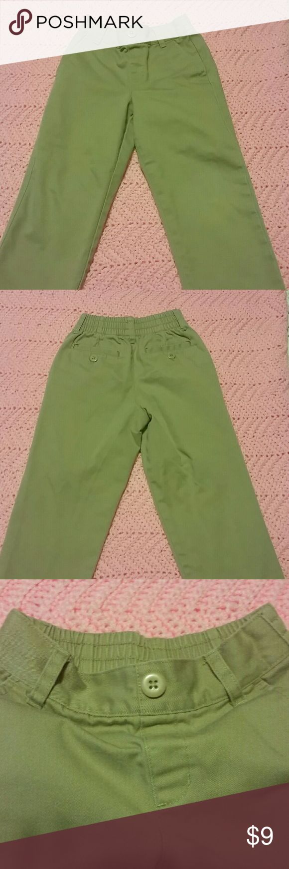 School uniform pants Khaki pants for school uniform. Pull on style with elastic waistband on back. Four pockets total (two front and two back) and belt loops. Great condition, no rips or stains. Gender neutral. Austin Clothing  Bottoms