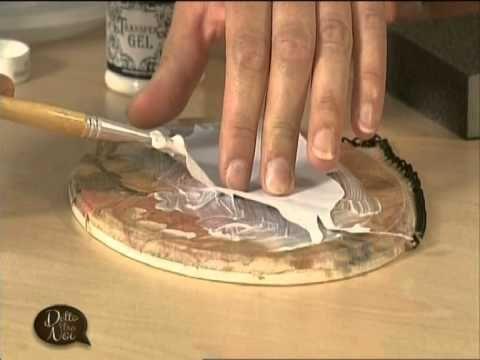 Mani di Lara Decoupage con carta di riso e trasferimento ed effetti madr...