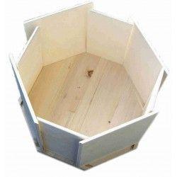 Box ottagonale in legno per cuccioli
