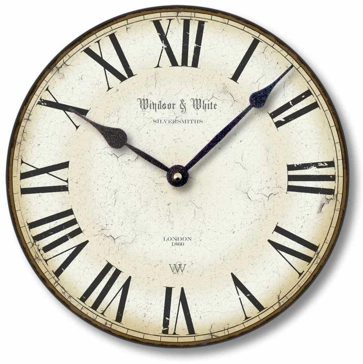 Amazon Com Item C8114 Vintage Style 12 Inch Roman Numerals Clock Wall Clocks Roman Numeral Clock Roman Clock Clock
