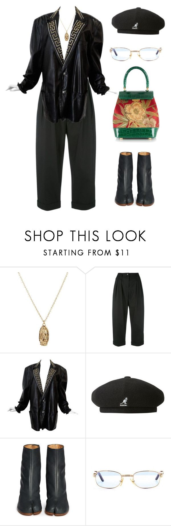 """""""Untitled #1270"""" by lucyshenton ❤ liked on Polyvore featuring ASOS, Moschino, Versace, kangol, Maison Margiela and Rubeus"""