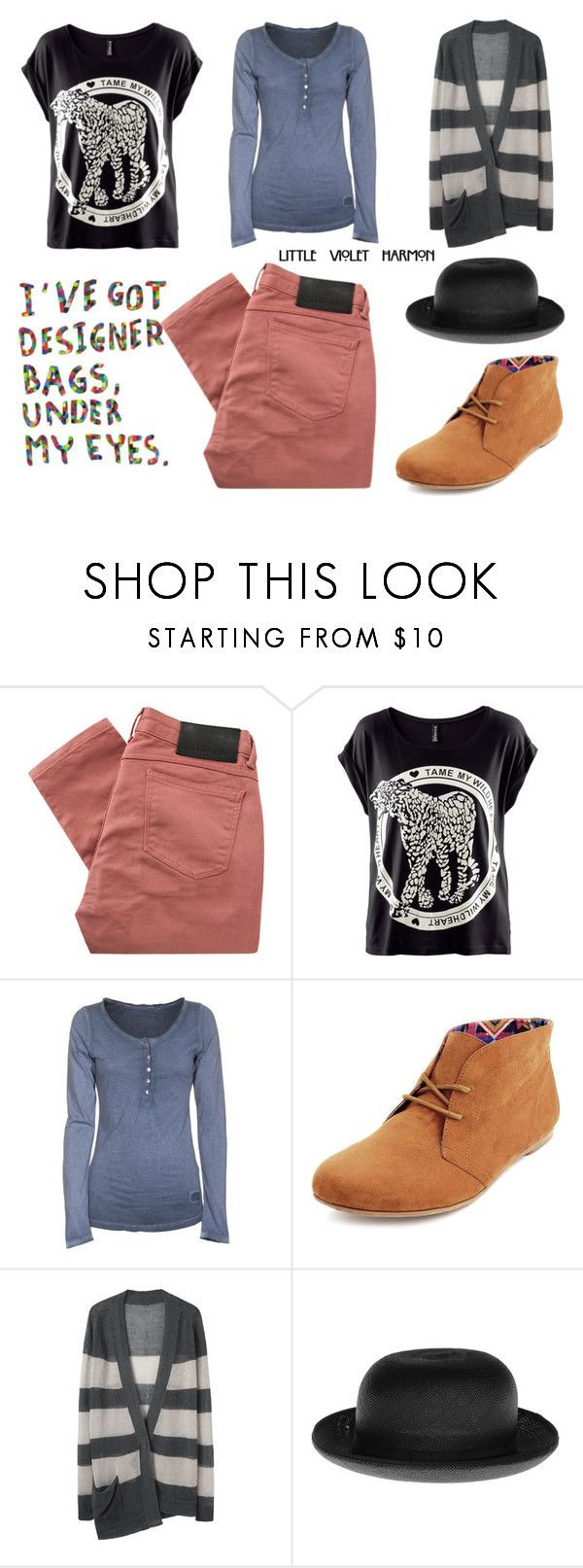 """""""black sheep"""" by littlevioletharmon ❤ liked on Polyvore featuring Religion Clothing, H&M, True Religion, Charlotte Russe, VPL, Christys', skinny jeans, oversized t-shirts, grunge and violet ahs"""