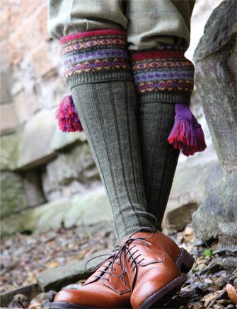 Not a tweed, but a perfect accessory. Pennine hunting socks. We hope to carry these in the store this year.