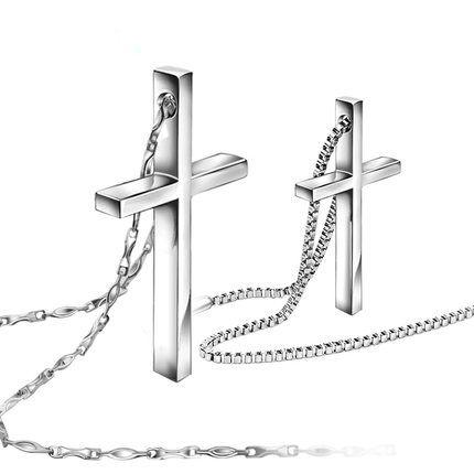 ペアネックレス クロス 大人気 十字架 刻印無料 クロスネックレス メンズ レディース 誕生日 クリスマスプレゼント