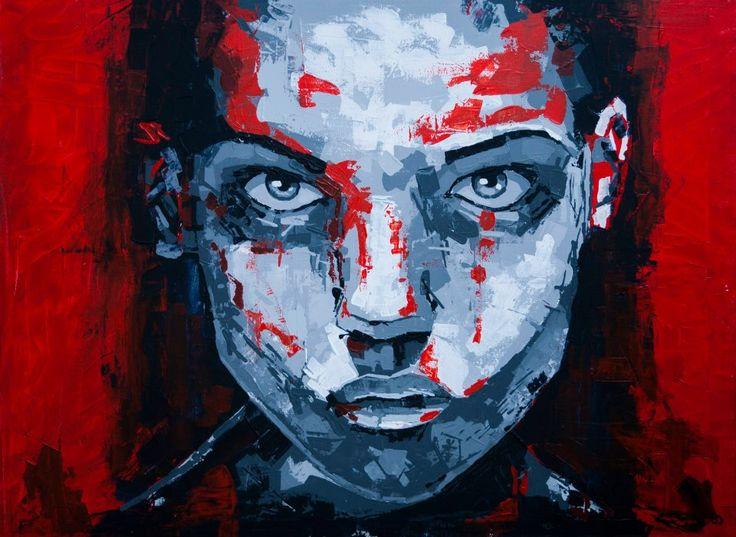 (Close IV) Olsen - Acrylic on canvas (60 x 80cm)